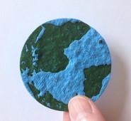 地球型の再生紙の写真